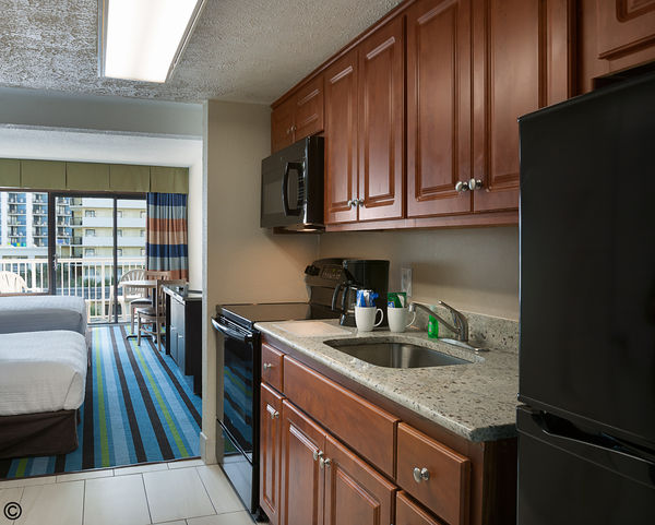 Myrtle Beach accommodations, 2 room efficiency with ocean view