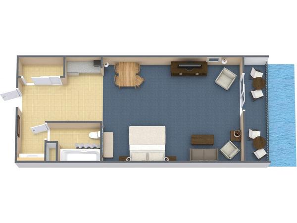 Oceanfront Standard Room 1 King (#14)