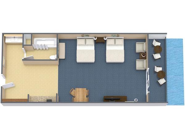 Poolside Standard Room 2 Queens