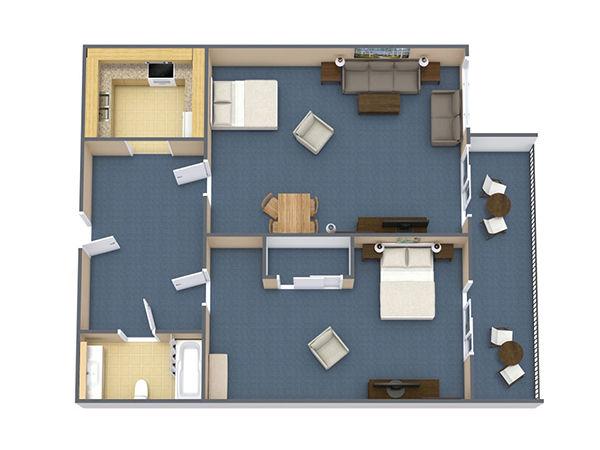 Ocean View 1 Bedroom Suite (#3)