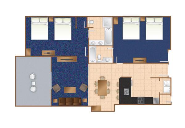 Seaside Inn 2 Bedroom Suite Myrtle Beach,SC
