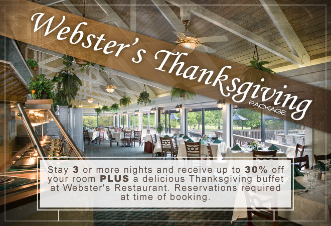 Websters Thanksgiving Buffet package