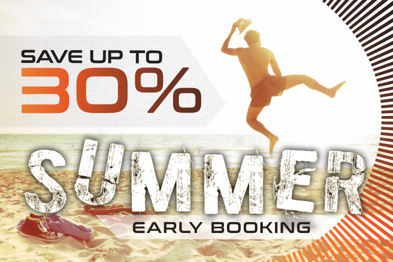 Early Summer Booking 30% Off Summer