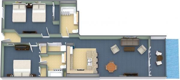 Oceanfront 2 Bedroom King Condo